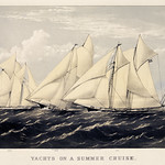 Yachts on a summer cruise published by Currier & Ives. Original from Library of Congress. Digitally enhanced by rawpixel. thumbnail