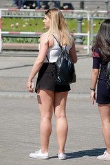 Black Skort, White Top 1 (booster_again) Tags: shorts