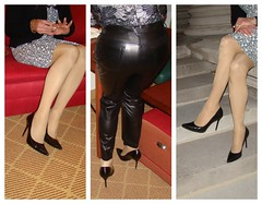 Outtakes collage (xgirltv1000) Tags: tgirl tgirloftheday crossdress trans transgender transwoman transisbeautiful maletofemale mtf makeover transformation leatherpants legs pumps michellemonroe