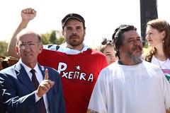 Ato inter-religioso reúne Nobel da Paz em apoio a Lula e solidariedade a grevistas. Foto: Magno Romero           Data:14/agosto/2018 (PTnaCâmara) Tags: ato inter religioso nobel da paz solidariedade stf greve de fome deputados rubens otoni