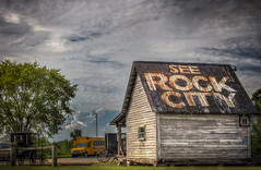See Rock City (donnieking1811) Tags: tennessee ethridge seerockcity barn buggy schoolbus building tree outdoors sky clouds signs hdr canon 60d lightroom photomatixpro