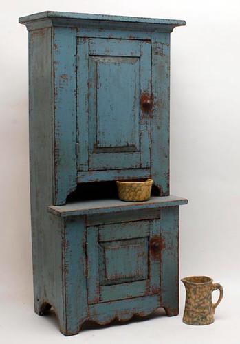 Antique Blue Minicupboard ($246.40)