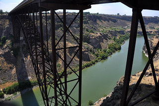 Snake River Kayakers Pass the Perrine Bridge