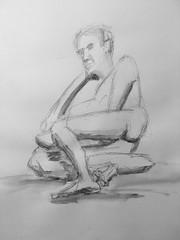 Wild Goose #lifedrawing 8.15.18 (Howard TJ) Tags: ohio columbus wildgoose watersolublegraphite pencil male gesture figure pose drawing life lifedrawing