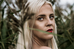 (Reetta Virtanen) Tags: portrait portraitphotography canon canon7d 24105mm finland finnish girl creative nature naturallight blond green red blue bokeh eyes people beautiful helsinki lammassaari outdoor colours