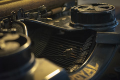 A letter from Dublin,... (Wim van Bezouw) Tags: sony ilce7m2 selectiveconceptualdof type writter object