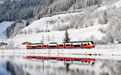 Reflecting on the day ahead_OBB CityJet 4746 010_040218_01 (DS 90008) Tags: 4746s obb railway hogmoos austria river outdoors train track unit austrian nature wildlife winter railtransport passenger express