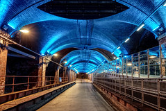 The new south entrance of the Leeds train station (EricMakPhotography) Tags: tunnel station light night longexposure