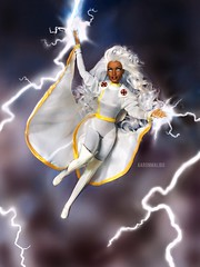 Goddess of Thunder (AaronMalibu) Tags: marvelcomics toybiz mattel barbie doll ororomunroe storm xmen