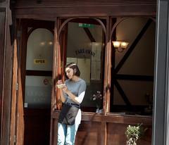 London Heatwave 003 (Terry Moran aka Tezzer57) Tags: july2018 candid urban londonheatwave writing londonist street stmartinslane streetscene waitress cafe teenager london uk girl england unitedkindom