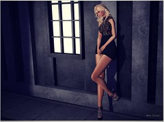 Yara (Moni Carissa) Tags: designercircle event 184 tentation dressvaly lace saas heels sexy blonde truthhair essena backdropcity photography