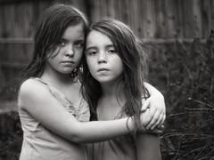 Sisters (Donna Tomlin) Tags: takumar5014 sisters bw olympusem5