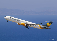 Thomas Cook Scandinavia A330-300 OY-VKH (birrlad) Tags: rhodes rho international airport greece aircraft airline airplane airplanes aviation airliner airlines airways takeoff departing departure climbing rotate runway thomas cook scandinavia oyvkh viking dk1587 airbus a330 a333 a330300 a330343