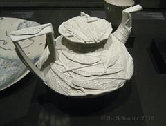 Bruce NUSKE 'Leaf tea' tea pot (SA Art Gallery) (Su_G) Tags: sug 2018 brucenuske leaftea 2012 saag southaustralianartgallery adelaide adelaidesouthaustralia potter pottery artgallery teapot leaves elegant saartgallery porcelain ceramic cream bone