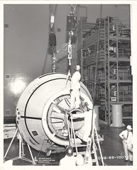"a (CM-007)_v_bw_o_n (NAA documentation photo, 3-25-66, 7008-55-100""I"") (apollo_4ever) Tags: nar northamericanrockwell hardhats parachutemortar rcsthrusters reactioncontrolsystemthrusters scimitarantenna apollospacecraft humanspaceflight mannedspaceflight cm007 bldg290 building290 naa northamericanaviation commandmodule apollocommandmodule apollospacecapsule blackandwhite projectapollo apolloprogram apollospaceprogram"