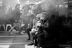 20180808-52-Queen Victoria winter night market_BW (Roger T Wong) Tags: 2018 australia bw melbourne queenvictoriamarket rogertwong sel24105g sony24105 sonya7iii sonyalpha7iii sonyfe24105mmf4goss sonyilce7m3 victoria blackandwhite food mono monochrome night people portrait stalls street
