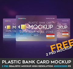 Plastic Bank Card – 2 Free PSD Mockups (Mockupfree.co) Tags: mockup free product mockups bank banking business card cash commerce debit finances mastercard money plastic visa