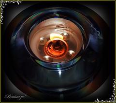 Luz íntima (bruixazul poc a poc...) Tags: vela llama portavelas macro cristal macrofriday fuego