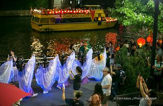 Arts in the Dark Lantern Procession on the Riverwalk, Chicago 2018