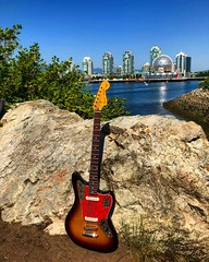 Guitar in the City (Pennan_Brae) Tags: guitarporn guitarphotography sixstring musicphotography fenderguitars fenderguitar fenderbass jaguarbass electricbass bassguitarist bassguitar fender fenderjaguar