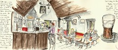 Inishmaan... dans le pub (bigoudene46) Tags: inismeain inishmaan irlande pub bière carnetdevoyage traveldiary moleskineaccordéon bigoudene46