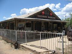 Cordes, Arizona (twm1340) Tags: cordes az arizona yavapai county ghost town 2009 store shop chevron gasoline sign atlas tires fence cocacola