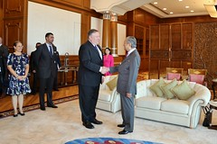 U.S. Secretary of State Michael R. Pompeo meets with Prime Minister Tun Dr. Mahathir Mohamad (United States Embassy Kuala Lumpur) Tags: secretary state michael r pompeo meets with prime minister tun dr mahathir mohamad us embassy