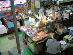 IMG_3533 (hattiebee) Tags: okinawa naha makishi market japan shopkeeper till register cashier
