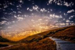 Sunset - Durdle Door  - England (Julie Greg) Tags: sunset sun sky colours clouds hills nature england durdledoor landscape grass mountain road