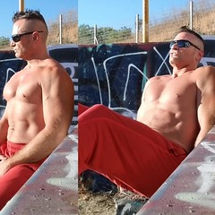 abs workout outdoors (ddman_70) Tags: shirtless pecs abs muscle workout outdoors sweatpants