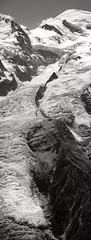 DSC_3225 (Guillaume Borget) Tags: montagne mountain treck hiking été summer rock rocks nature discovery travel trip dream m83 inspiration alpes chamonix mont blanc montblanc noiretblanc bw parapente