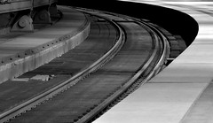 Stay the Course (Robin Shepperson) Tags: station corner monochrome bw blackandwhite grey d3400 nikon berlin germany engineering industry architecture black white