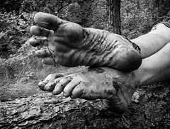 Natural leather (Barefoot Adventurer) Tags: barefooting barefoot barefoothiking barefooter barefeet barefooted baresoles barfuss bw blackandwhitephotography blackwhite toughsoles texture ruggedsoles roughsoles healthyfeet happyfeet hardsoles hiking heelcracks leathertoughsoles leathersoles livingleather leather walking wrinkledsoles woodlandsoles callousedsoles callouses connected earthing earthsoles earthstainedsoles anklet arch arches toes toepoint