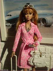 Tag game: My Favorite Poppy Parker Doll (Mary (Mária)) Tags: poppyparker fashionroyalty integritytoys toys doll barbie fashion vacation pasport plane suitcase luggage summer holiday airport dianevonfurstenberg diorama dollphotography interior handmade marykorcek travel