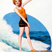 Clara Bow Surfing, Film Fun, August 1929, cover by Enoch Bolles