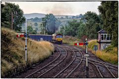 Commencing the Climb (Welsh Gold) Tags: 66116 6m97 tees dock new biggin british settle junction semaphore signals yorkshire
