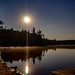 Moon Rising Over Moss Lake