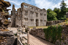 Berry Pomeroy Castle (Keith in Exeter) Tags: berrypomeroy castle mansion ruins building architecture stonework ancient english heritage totnes devon england elizabethan tudor tree ivy fence courtyard path sky