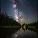 Alpine Lake Under the Stars