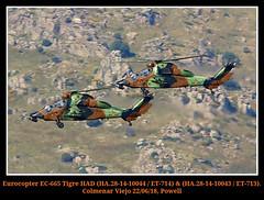 Tigres (Powell 333) Tags: eurocopter ec665 tigre had ha281410044 et714 714 713 ha281410043 et713 10043 10044 famet colmenar viejo colmenarviejo tigres helicoptero helicopteros helicopter helicopters canon eos 80d canoneos80d eos80d powell spain españa lecv ejercito aire español