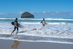 Surfers at Trebarwith Strand (gorbould) Tags: 2018 cornwall england fujifilmxt2 greatbritain gullrock trebarwith unitedkingdom beach fuji ocean sea strand surf surfers surfing