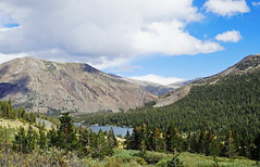 Silver Lake from June Lake Loop, Sierra Nevada, CA 2016 (inkknife_2000 (9 million views)) Tags: easternsierranevada california usa landscapes mountains snow snowonmountains dgrahamphoto junelakeloop mountainlake skyandclouds silverlake mountainvistas hikingthehighsierra alpinelakes forest