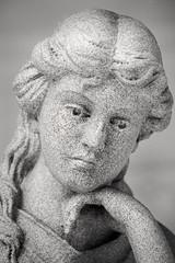 Thinking 3-0 F LR 6-23-18 J456 (sunspotimages) Tags: statue sculpture blackwhite blackandwhite bw monochrome