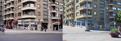 Då-och-nu-bild på Götaplatsen i Göteborg. 2006-2007 till vänster och 6 juli 2018 till höger. (biketommy999) Tags: jämförelsebild 2006 2007 götaplatsen göteborg sverige sweden biketommy biketommy999 2018 text
