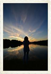 Alone (Santoña) Tags: peace calm calma sky sunset puestadesol paz paisaje belleza beauty lago lake agua cielo reflejo reflection summer atardecer