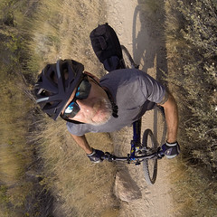 I Want to Ride my Bicycle! (The.Mickster) Tags: gopro randy ridgetorivers bicycle bike boise fisheye idaho mountainbike path trail wideangle