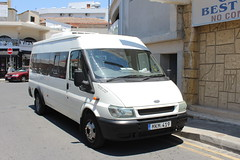 Ford Transit minibus. (steve vallance coach and bus) Tags: mkm419 fordtransit larnaca cyprus
