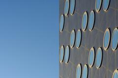Round windows and sky (Jan van der Wolf) Tags: map180103v round windows ramen facade gevel architecture architectuur rijswijk sky blue blauw
