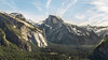 Half Dome (IanCoates94) Tags: yosemite california national park conifers mountains glacialvalley halfdome hiking trail planetrails glacial landscape clouds handheld panorama valley usa midday trees