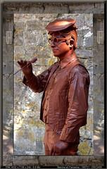 Province du Luxembourg, Marche en Famenne (chatka2004) Tags: provinceduluxembourg marcheenfamenne en marche statues lecoupleenchocolat enmarche lesstatuesenmarche